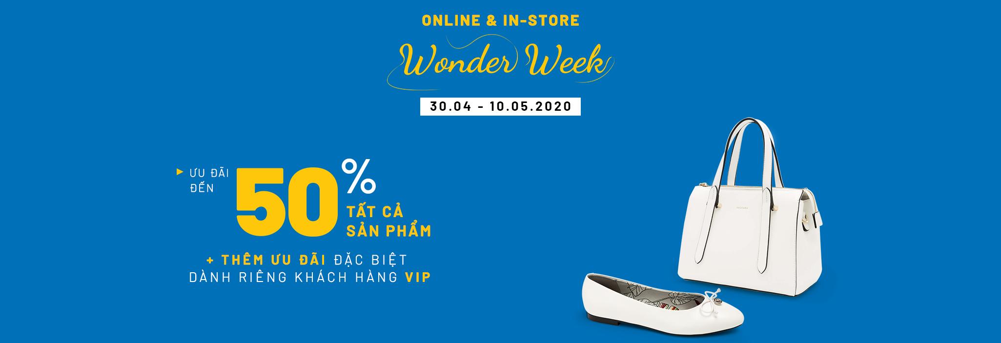 Wonder Week | ƯU ĐÃI đến 50% tất cả sản phẩm