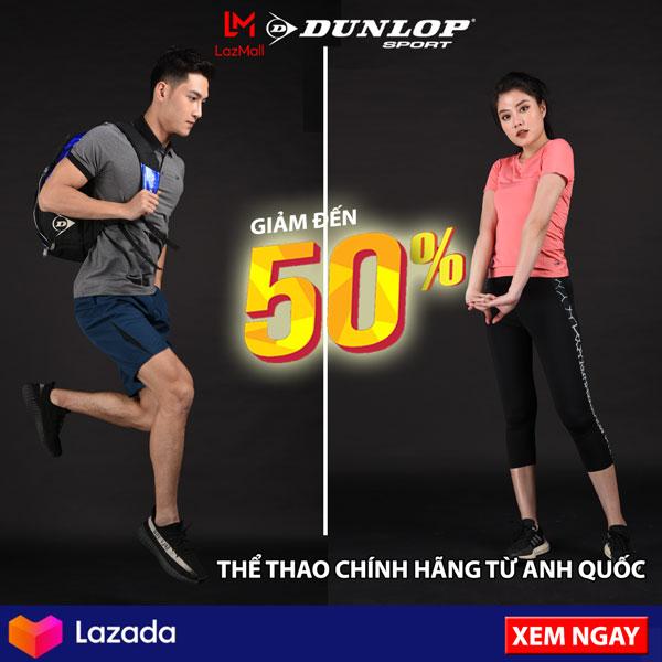 Dunlop: Voucher 30K/500K, 50K/800K, 100K/1500K
