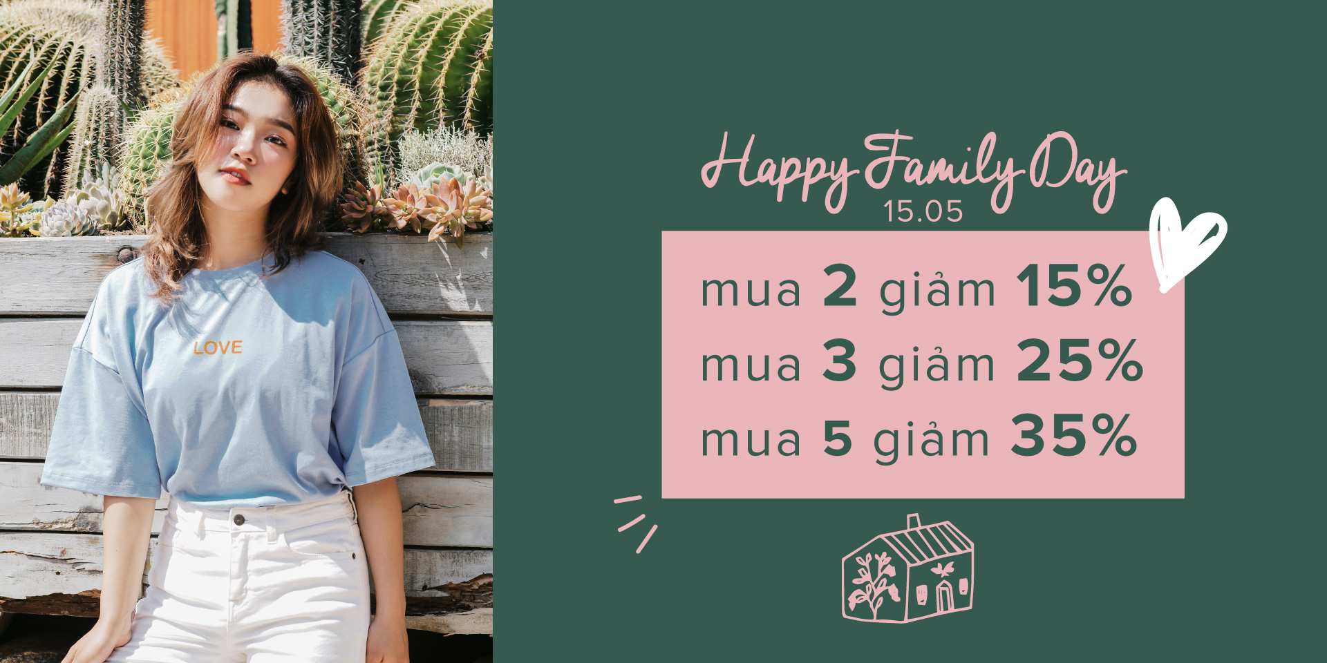 HAPPY FAMILY DAY - COMBO T-SHIRTS FOR SUMMER  SALE UP TO 35%