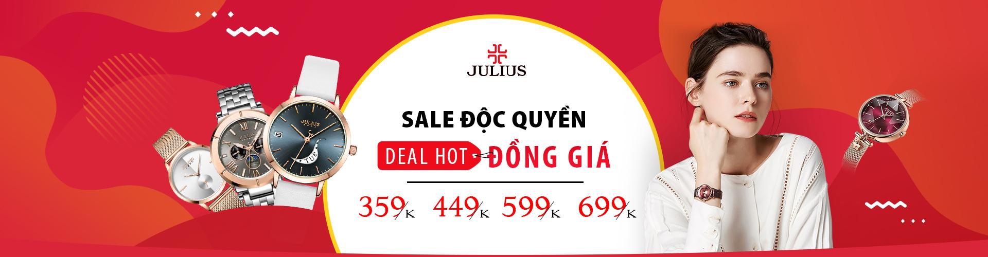 Đồng hồ Julius: Deal đồng giá - Sale độc quyền
