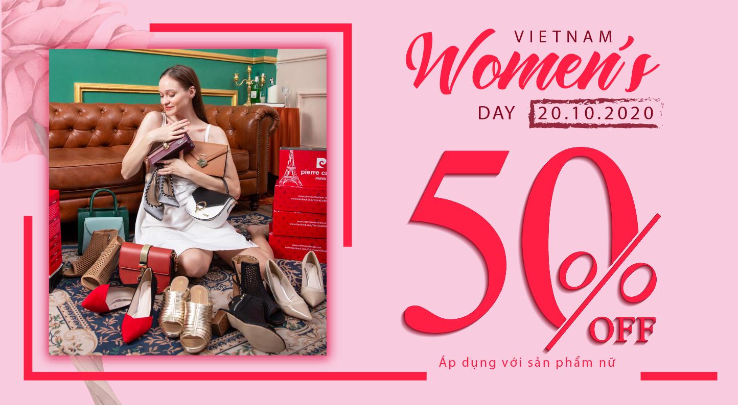 Chào mừng ngày 20/10, Pierre Cardin tặng ngay 50% tất cả các sản phẩm nữ