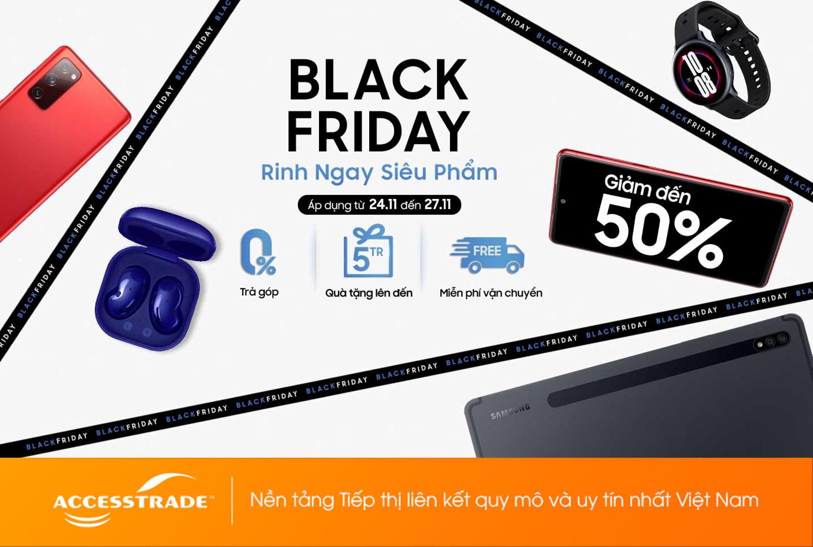 Black Friday - Giảm đến nửa giá mua sắm cực đã!