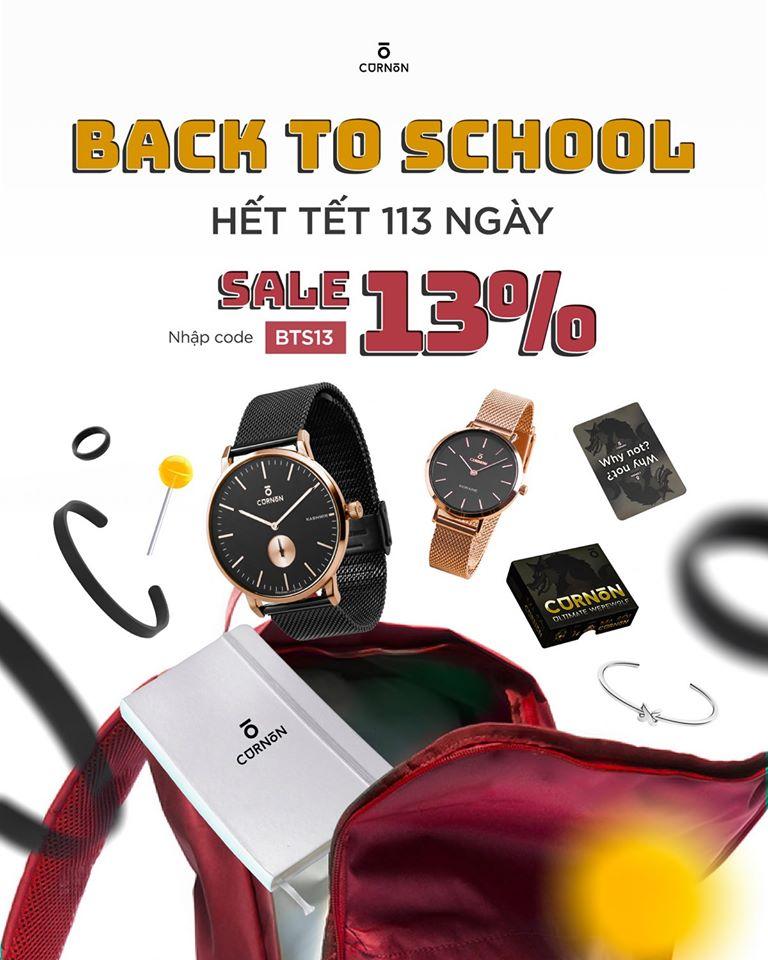 Back to school - giảm giá toàn bộ sản phẩm thêm 13%