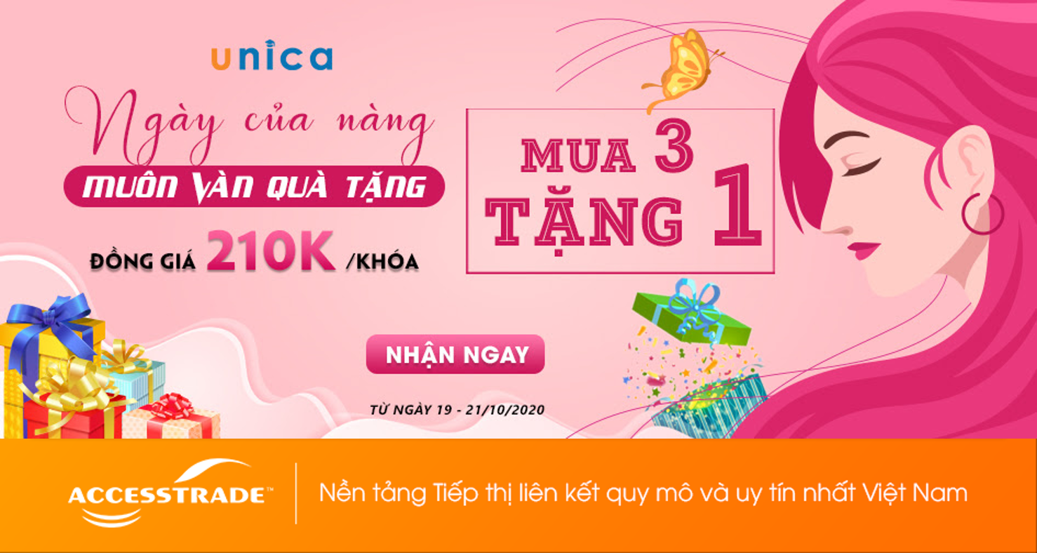 Đồng giá 210k - Mua 3 Tặng 1 - Tri ân Ngày Phụ Nữ Việt Nam 20/10