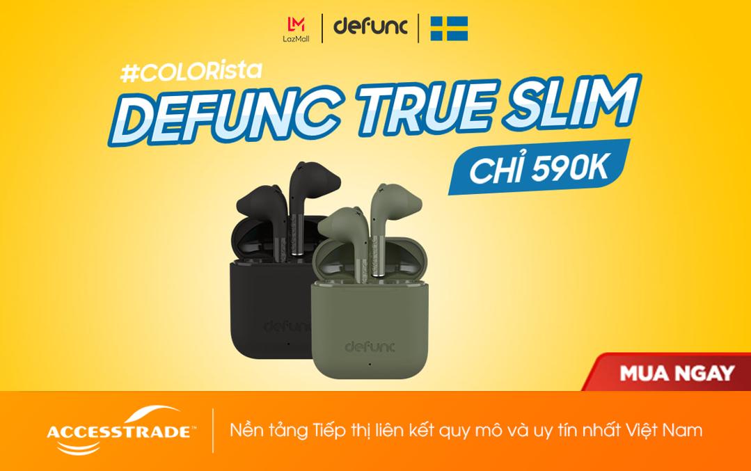 Mở bán Defunc True Go Slim - Tai nghe Top 1