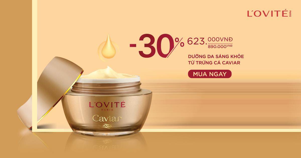 Kem Dưỡng Tăng Cường Sức Sống Lovite Caviar Vital Light Cream 45mlgiá chỉ còn 623K