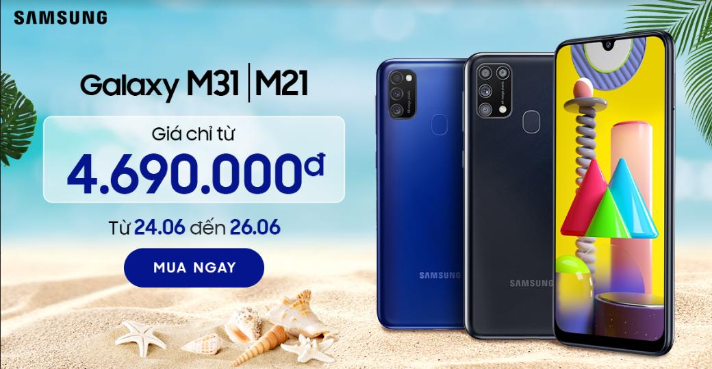 Galaxy M31 | M21: giá chỉ từ 4.690.000đ