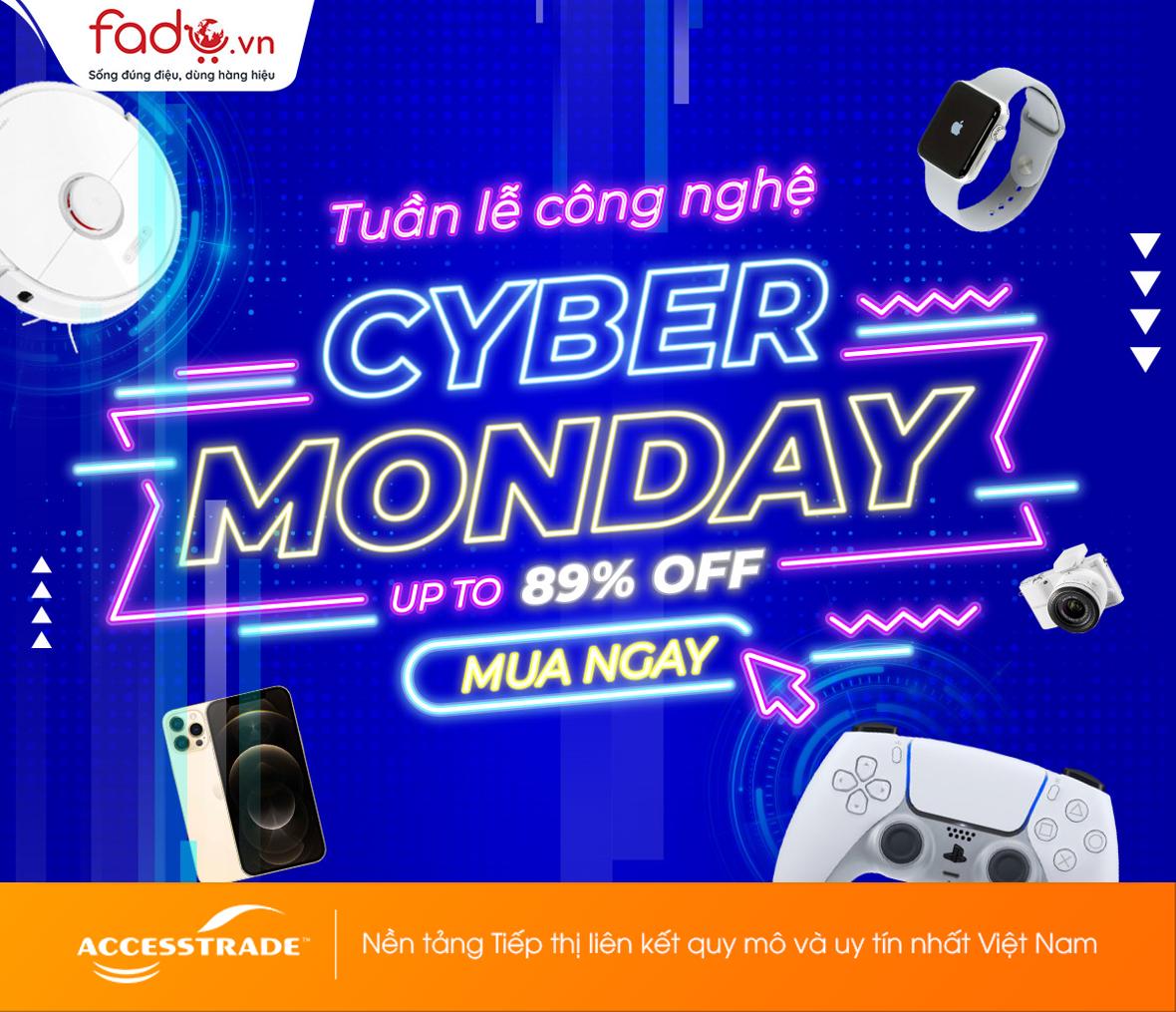 Cyber Monday2020-Siêu sale giảm tới 89%
