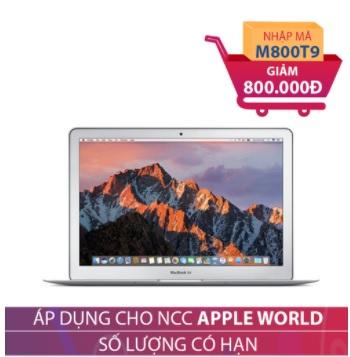 Apple Macbook Air 2017 MQD32 128GB 13 inches Bạc (Hàng nhập khẩu) GIẢM NGAY 800.000