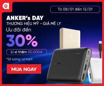 Anker: Sale Sốc - giảm đến 30% giảm giá tại adayroi