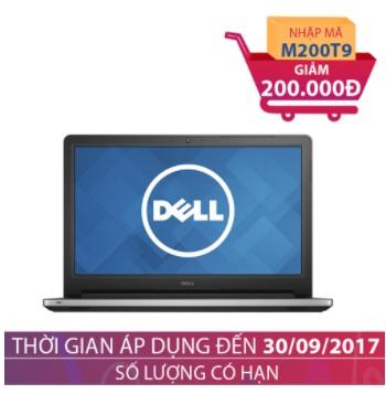 Laptop Dell Inspiron 15-5559 i7-6500U/ 8GB/ 1TB/ VGA 4GB 15.6 inches Bạc (Hàng nhập khẩu) - Tặng túi xách laptop GIẢM NGAY 200.000