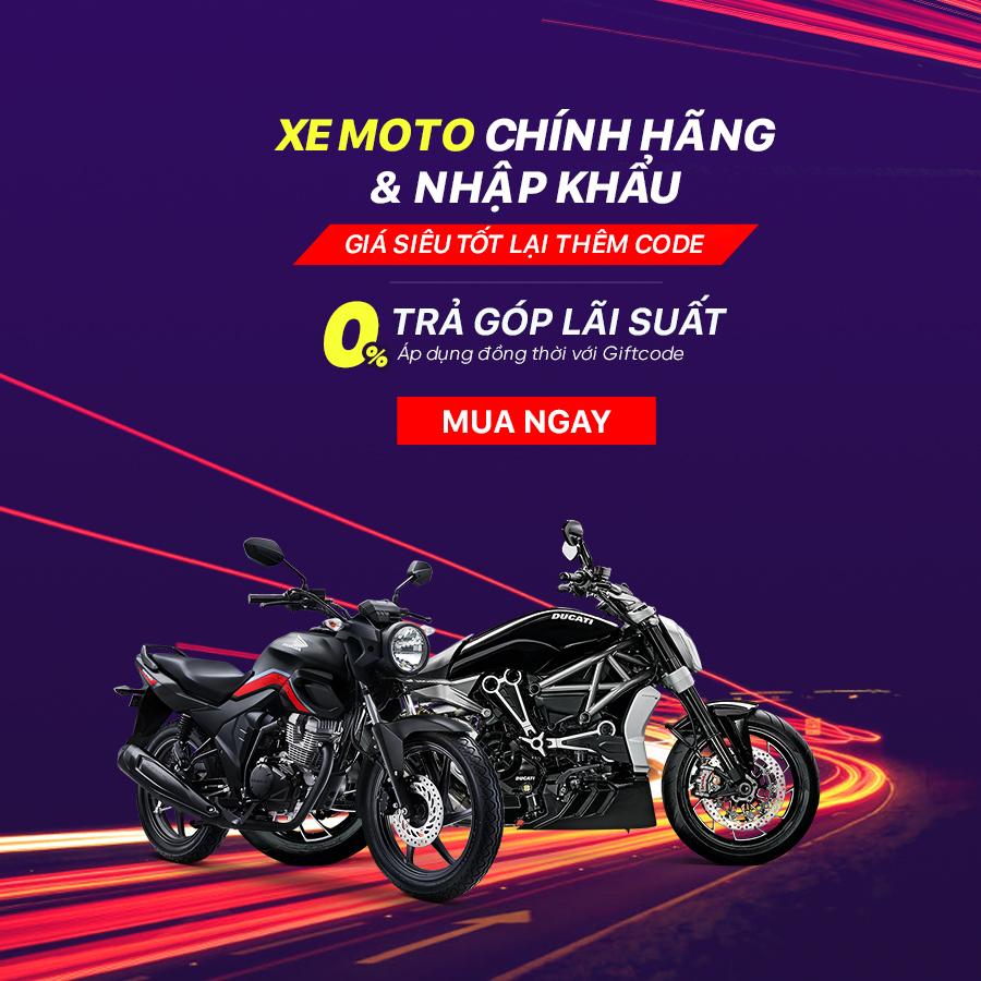 Khuyến mãi Xe Moto chính hãng – Nhập khẩu Giá siêu tốt lại thêm code hấp dẫn có thể lên tới 1 Triệu đồng