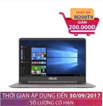 Laptop Asus Zenbook UX410UA-GV109 14 inches Xám thạch anh GIẢM NGAY 200.000