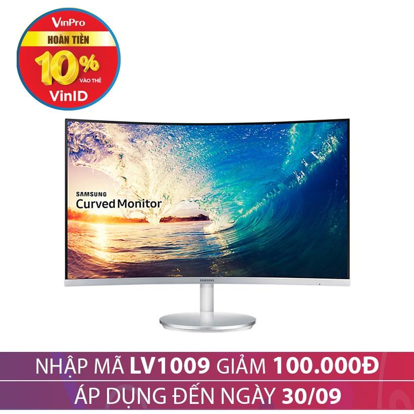 Giảm giá 100K khi mua Màn hình cong Samsung LC27F591FDEXXV 27 inches Trắng