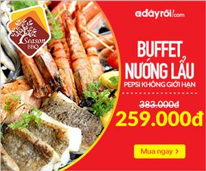 Buffet nướng lẩu Season BBQ - Chỉ 259.000đ