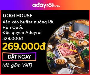 HN: Gogi house - Xèo xèo buffet nướng lẩu hảo hạng