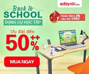 Back 2 School – Dụng cụ học tập ưu đãi đến 50%++