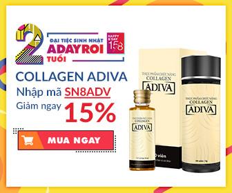 Adiva –  Nhập mã SN8ADV ưu đãi thêm 15%