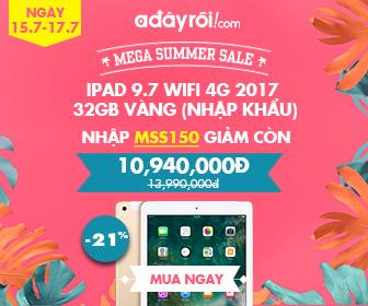 Ipad 9.7 32GB Vàng nhập khẩu - Giá chỉ còn 10,940,000VND
