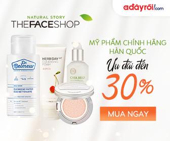 The Faceshop – Mỹ phẩm chính hãng Hàn Quốc – Ưu đãi đến 30%