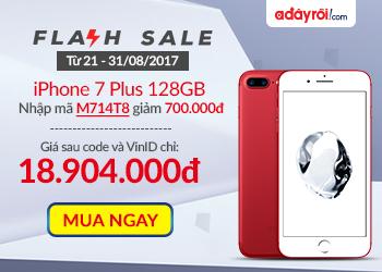iPhone 7 Plus 128GB đỏ nhập khẩu khuyến mãi hấp dẫn