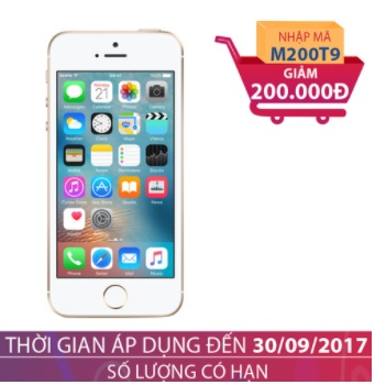Apple iPhone SE 16GB Vàng (Certified Pre-Owned) GIẢM NGAY 200.000
