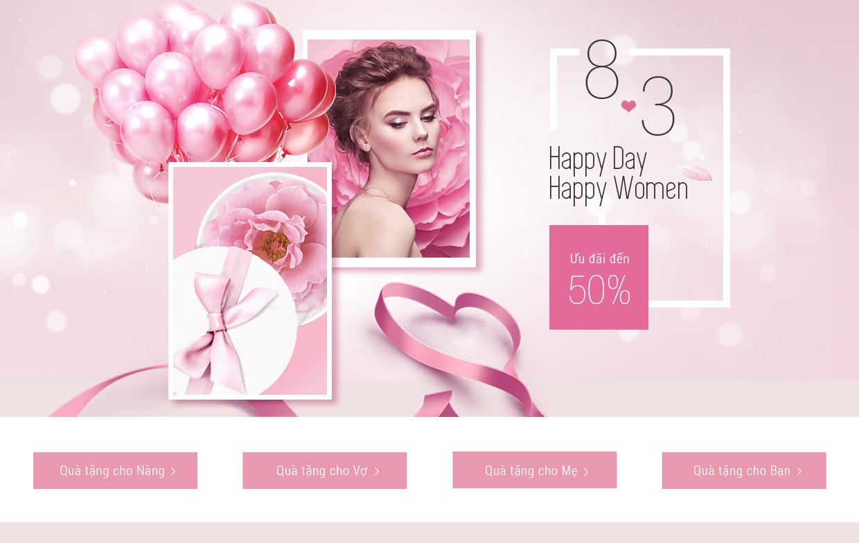 Quà tặng ngày quốc tế Phụ nữ 8-3