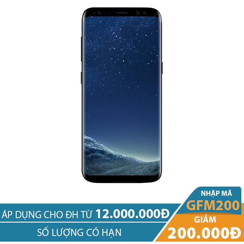 Giảm ngay 200K khi mua Samsung Galaxy S8 Plus 4GB/64GB Đen (Hàng nhập khẩu Mỹ)