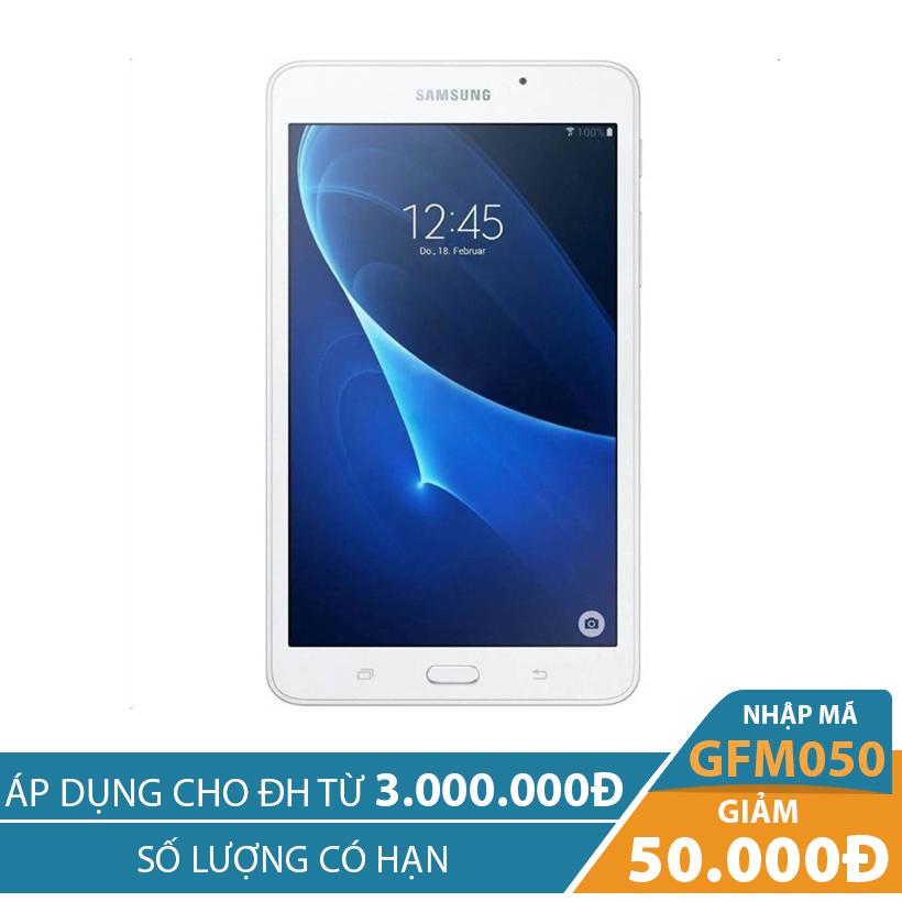 Giảm ngay 50K khi mua Máy tính bảng Samsung Galaxy Tab A 7.0 (T285) Wifi 4G 8GB Trắng (2016)