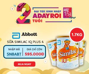 Sữa Similac IQ Plus 4 (topper 1.7kg) Giá Chỉ Còn 595.000Đ