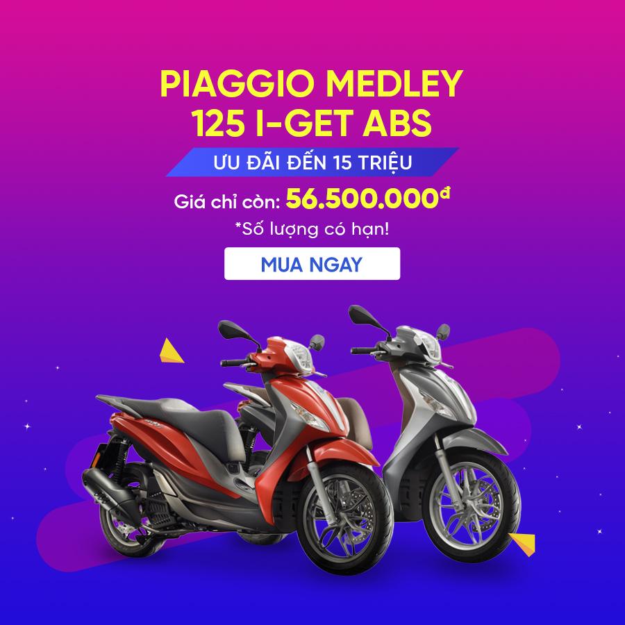 Piaggio Medley 125 I-Get ABS E3 - Ưu đãi đến 15 triệu