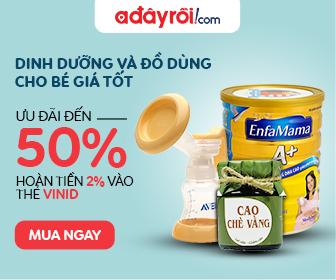 Dinh dưỡng và đồ dùng cho bé giá tốt - ưu đãi đến 50%