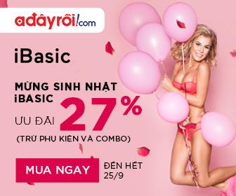 IBasic – Mừng Sinh nhật iBasic ưu đãi 27% (Trừ phụ kiện và combo)