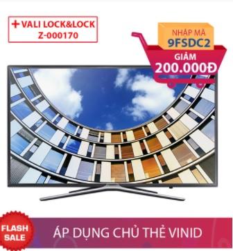 Smart Tivi Samsung 49 inch UA49M5500 + Bộ Lock&Lock PO815SS Giảm ngay 200.000đ