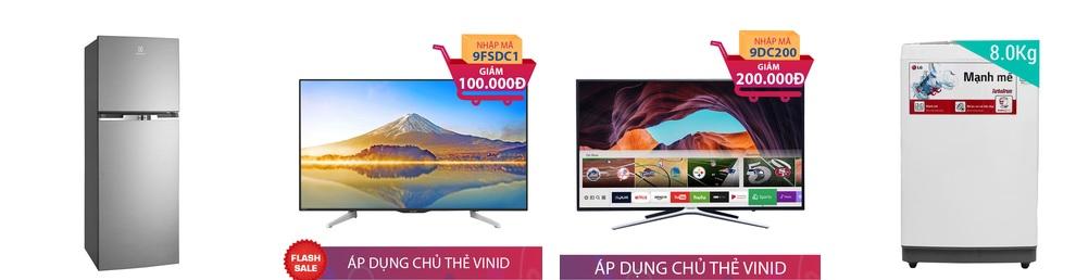Giảm giá lên đến 500.000 các mặt hàng điện máy, ti vi