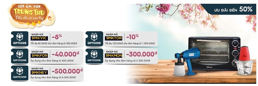 Giảm giá lên đến 500.000 các mặt hàng điện gia dụng MK-Corp