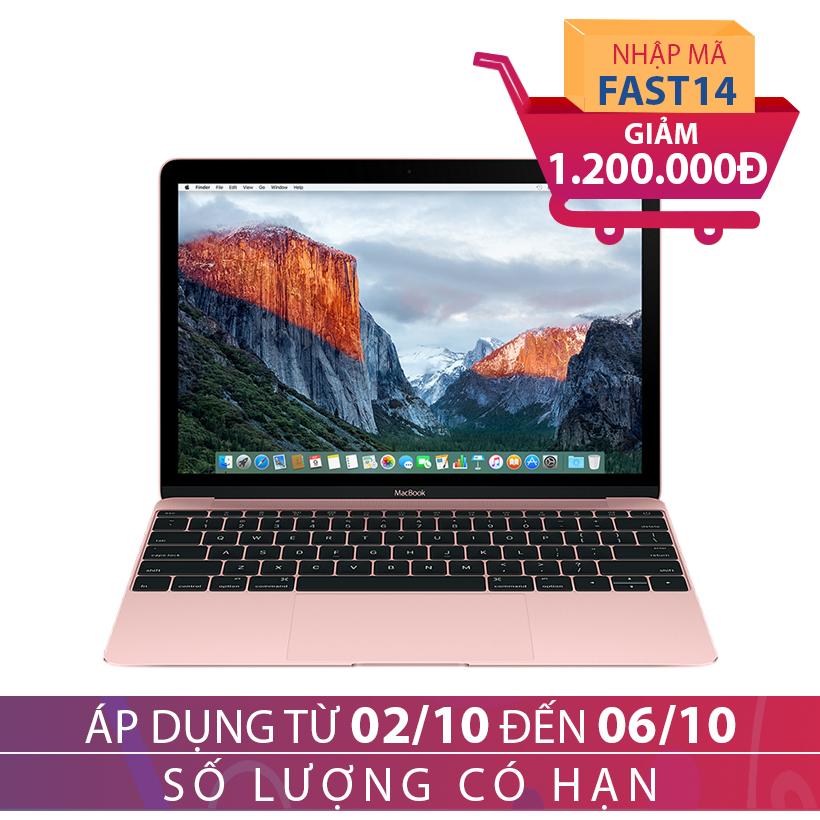 Apple The New MacBook Retina 2016 MMGL2 12 inches Vàng hồng Khuyến Mại Hấp Dẫn