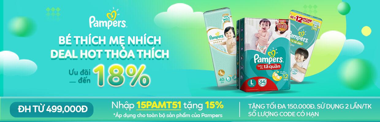 Pampers: Bé thích mẹ nhích - Ưu đãi đến 18%