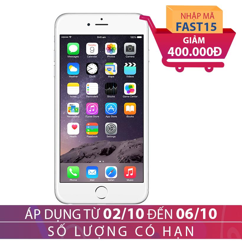 Giảm ngay 400K khi mua Apple iPhone 6 Plus 16GB Bạc (Hàng chính hãng FPT)