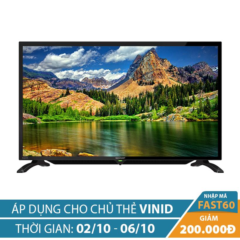 Giảm ngay 200K khi mua Tivi LED Sharp AQUOS 32 inch LC-32LE280X