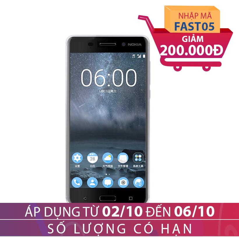 Giảm ngay 200K khi mua Điện thoại di động Nokia 6 SILVER