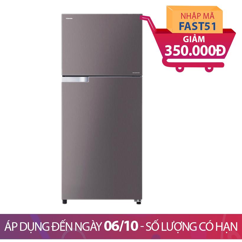 Giảm ngay 350K khi mua Tủ lạnh Toshiba GR-T36VUBZ, 305 lít, Inverter