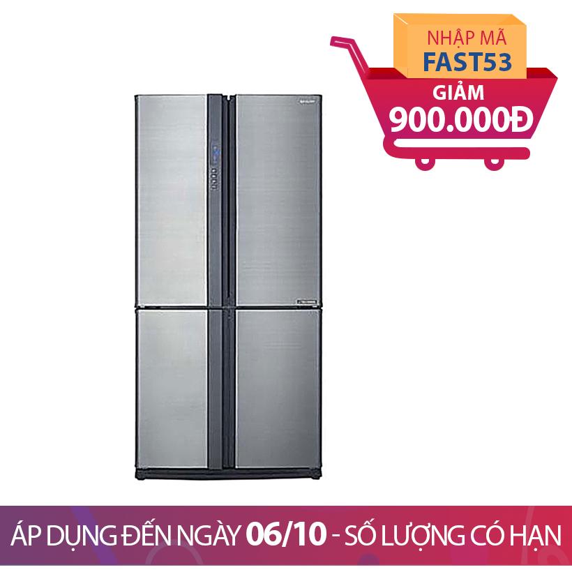 Tủ lạnh Sharp SJ-FX630V-ST, 626 lít, Inverter Khuyến Mại Tháng 10