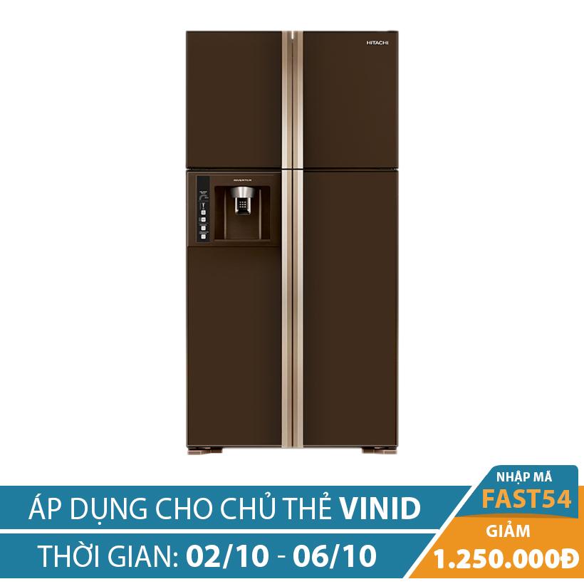 Giảm ngay 1.25 triệu khi mua Tủ lạnh Hitachi R-W660PGV3 (GBW), 540 lít, Inverter