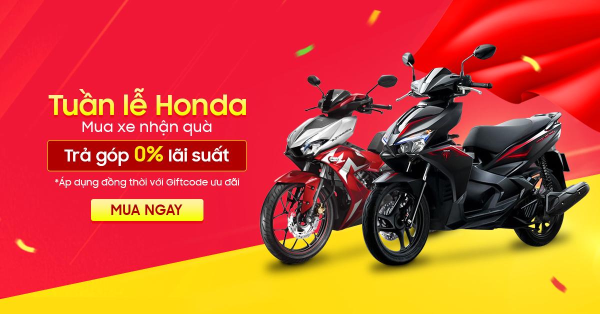 Khuyến mãi Xe máy chính hãng Online – Tuần lễ Honda