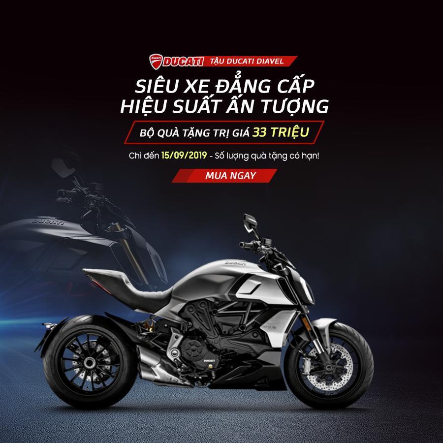 Khuyến mãi Ra mắt dòng xe Ducati Diavel