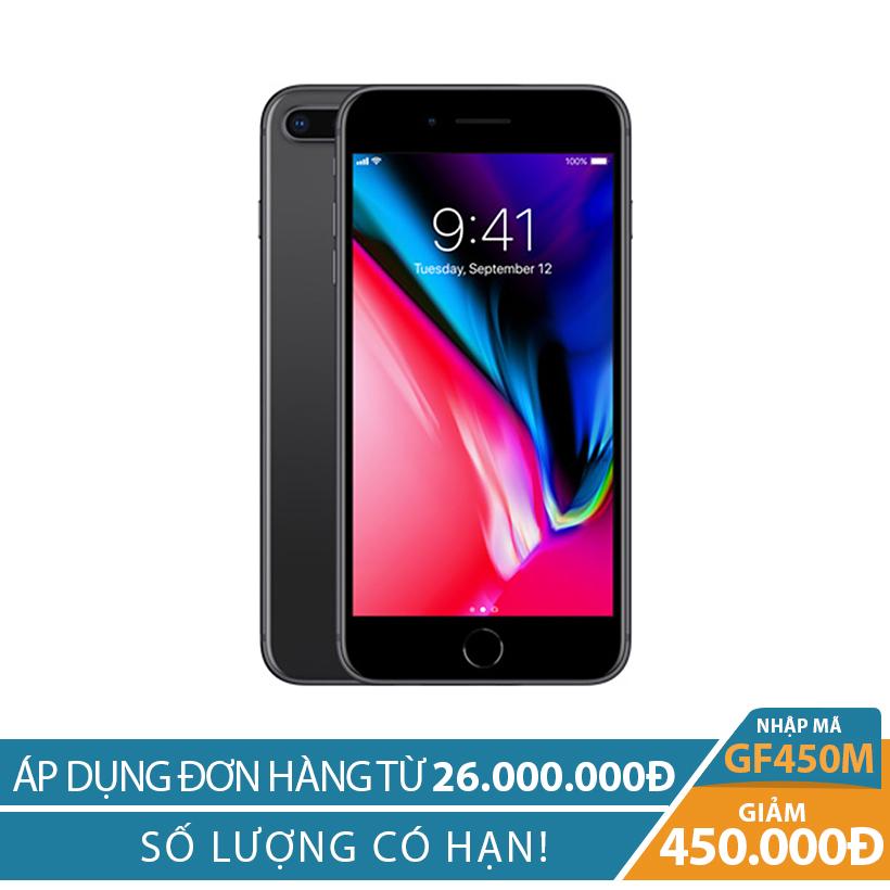 Giảm ngay 450K khi mua Apple iPhone 8 Plus 256GB Xám (Hàng nhập khẩu)