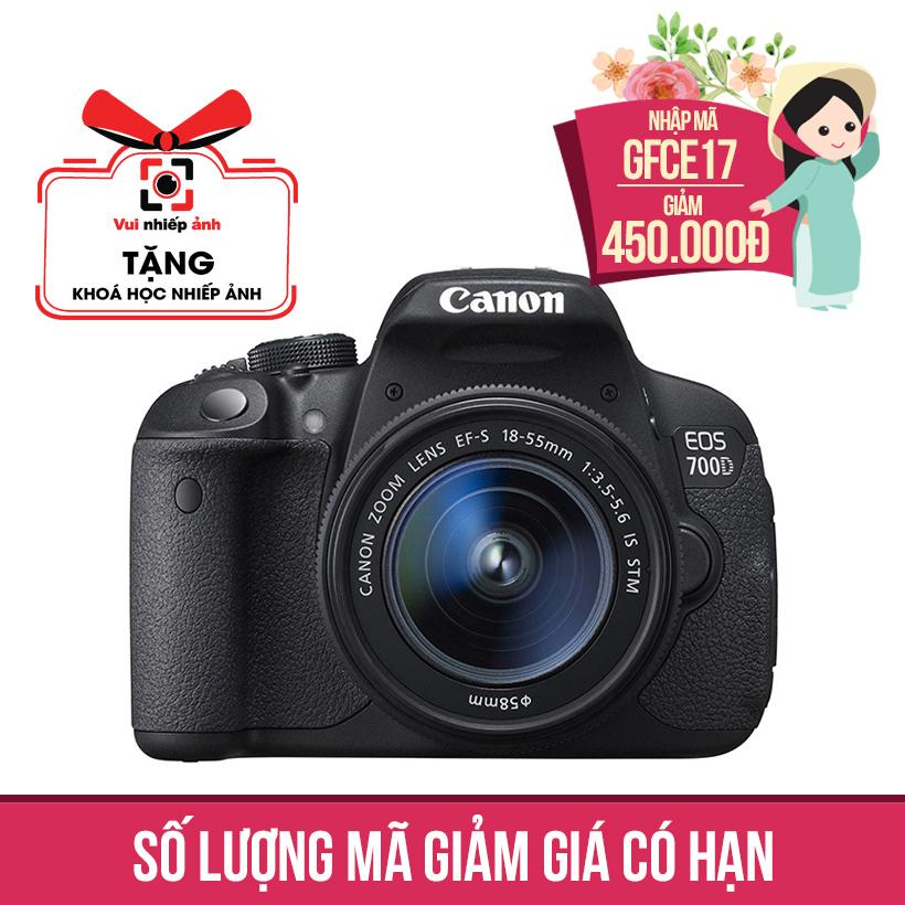 Máy ảnh SLR Canon EOS 700D Kit 18-55 Khuyến Mại Tháng 10