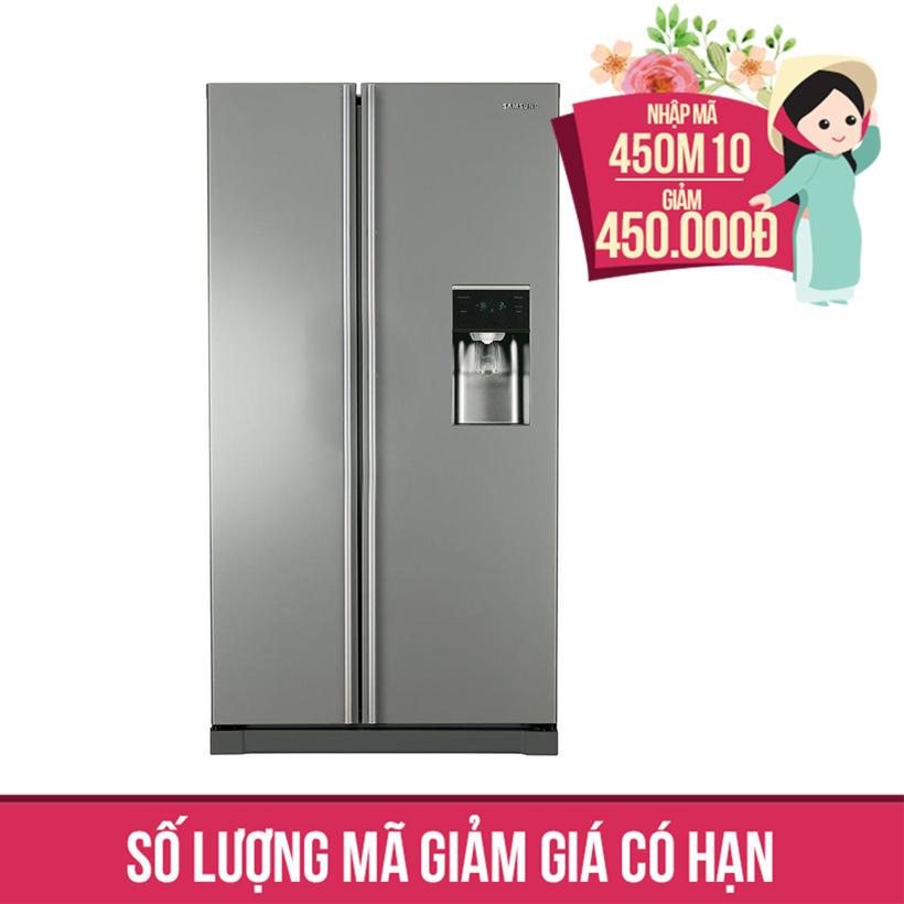 Giảm ngay 450K khi mua Tủ lạnh Side By Side Samsung RSA1WTSL1/XSV, 543 lít