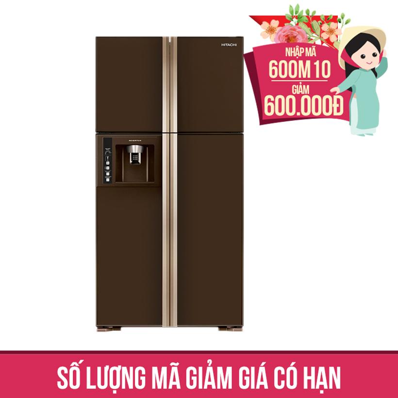 Giảm ngay 600K khi mua Tủ lạnh Hitachi R-W660PGV3 (GBW), 540 lít, Inverter